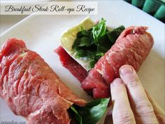 Breakfast Steak Roll