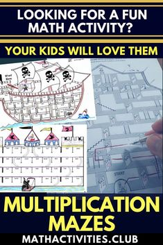 MULTIPLICATION MAZES! Students will love these fun worksheets as they have to use their multiplication knowledge to find the way through mazes. An awesome learning activity for elementary kids which can be used in your classroom as a math warm-up, early f