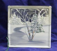 Glass Block Light-Winter Path. $34.00, via Etsy.