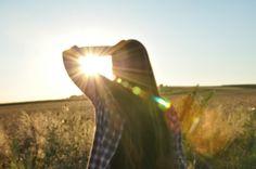 Girl sunset photography field artistic