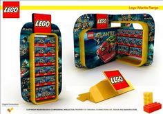 POP Display Design pinned by room one Display de LEGO decorado con los colores como se conoce la marca: el rojo y el amarillo.