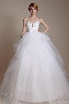 ersa atelier bridal 2013 strapless princess ball gown tulle skirt