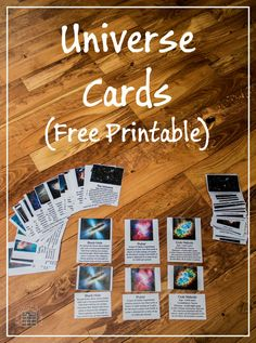 Universe Cards by ResearchParent.com - 3-Part, Free Printable Universe Cards for teaching kids about astronomy and cosmological terms. Independent, self-correcting activity.