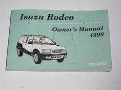 1999 Isuzu Rodeo Owners Manual Book