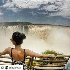Fotografía de: @playalocal A R G E N T I N A #cataratasarg #traveling #argentina #orgullosamentemexicana #mexicangirl #happy #boyfriend #country #cataratas #cataratasdoiguaçu #trip #travel