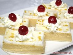 Tvarohovo-karamelový zákusok, recept Russian Recipes, Cheesecake, Protein, Food And Drink, Pudding, Easy, Sweets, Gardening, Quark Recipes