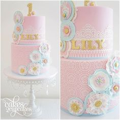 Pretty Pink Girl's Birthday Cake