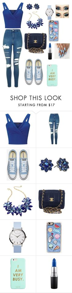 """Untitled #74"" by iuliamariacristea ❤ liked on Polyvore featuring Miss Selfridge, Topshop, Nina, Kate Spade, Chanel, Zero Gravity, ban.do and MAC Cosmetics"