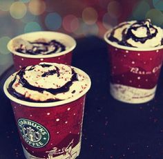 Starbucks; can't wait for their holiday cups to come out!!