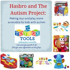 The Autism Project and Hasbro have teamed up to make toys and play more accessible for kids with autism and other disabilities. Great project and just in time for the holidays!