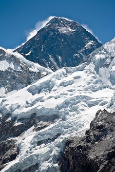 Mt Everest (29,029 feet) seen from Kala Pattar. I can't climb Mt. Everest but I will get to Kala Patthar to view the famous Khumbu icefall.