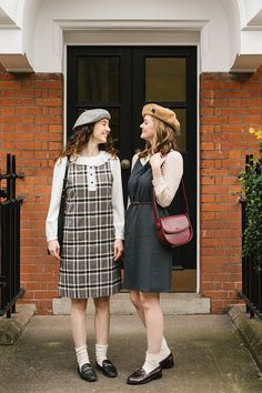 Preppy Summer Outfits, Winter Outfits, Pretty Outfits, Pretty Clothes, Knit Dress, Dress To Impress, Vintage Dresses, Vintage Inspired, Street Style