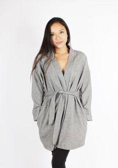 Long Kimono Blazer Grey