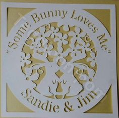 Some Bunny Loves Me Easter Spring Papercut,SVG Cutting File Frame,Design Template, Scrapbooking, Papercutting, Card Making,Digital Upload by Teddipompom on Etsy