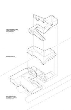 architecture exploded axonometric _ Parkridge / PLY Architecture
