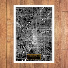 INDIANAPOLIS Indiana City Map Indianapolis by JackTravelMap