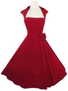 Vintage Turn-Down Collar Sleeveless Solid Color Bowknot Embellished Dress For Women