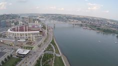 Cincinnati: Great American Ballpark on the shores of the Ohio River, shot by Tampa Photographer http://celebrationsoftampabay.com/