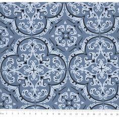 Tecido Estampado de Bandana cor - 06 (Azul)