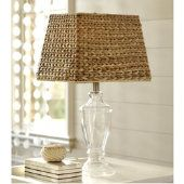 .two of my favorites love the texture of the woven shade against the sleek smooth glass love this I will take 2 please!