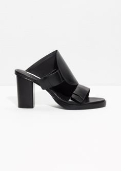 & Other Stories | Blockl Heel Leather Sandals