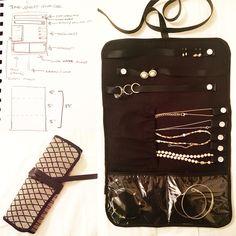 Finally finished my own travel jewelry organizer :)