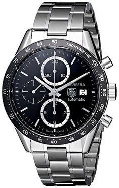 TAG Heuer Men's CV2010BA0794 Carrera Black Dial Watch TAG...