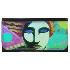 Original Abstract Art Wallet - diy cyo customize create your own personalize