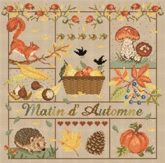 """Madame la fée -  """"Matin d'Automne""""  197 x 191 points"""