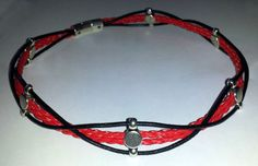 Red & Black Leather Pubic / Day slave/submissive Collar -  BDSM     Item (18). $20.00, via Etsy.