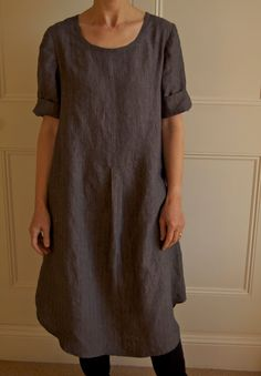 Merchan & Mills shirt dress w/ apron ? ( don't know what it's called but they have it for sale on their website still.  Here is a woman who has made a great version of it in beautiful linen - probably from them since their fabric looks extraordinary.  harmony and rosie: pin striped