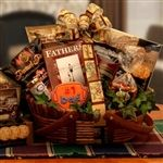 The Worlds Greatest Dad Father's Day Gift Basket - This #1 Dad themed gift basket features a Fathers are Forever book and is filled with delectable savory goodies, sausages, crackers, coffee, cookies, chocolate popcorn, and treats for dad.  - http://giftbasketblessings.com/product/the-worlds-greatest-dad-fathers-day-gift-basket/