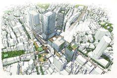 渋谷駅地区のイメージパース