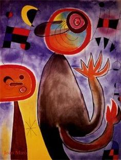 Joan Miro .playful and vibrant , love Miro's painting and sculptures the Miro foundation in Barcelona, 2 visits so far. Also like your boards Carrie. AJ.