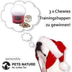 8. Dezember – 3 x Chewies Trainingshappen von Pets Nature zu gewinnen!