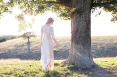 Handmade Hippie Wedding Dress in Vintage Cotton Lace Doilies Unique Bohemian Chic Style OOAK S M L on Etsy, $970.00