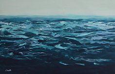 "Saatchi Art Artist Jen Dacota; Painting, ""Liquid Blue No.3"" #art"
