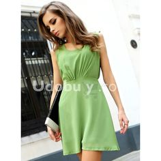 Green Chiffon Halter Dress$69.00 ($69) via Polyvore