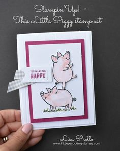 Stampin'Up! This Little Piggy stamp set, handstamped, papercrafts, DIY, techniques, tutorials