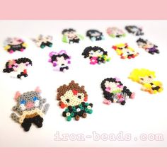 Hama Beads, Fuse Beads, Iron Beads, Perler Patterns, Slayer Anime, Bead Crafts, Beading Patterns, Pixel Art, Origami