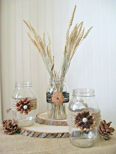 pine cone crafts:  Rustic Crafts & Chic Decor