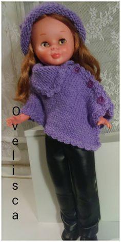 Muñeca Nancy poncho morado