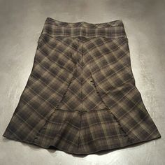 BCBG Tartan Skirt Like new quality. BCBGMaxAzria Skirts