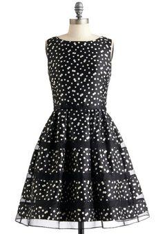Rosé Bubbly Dress in Noir, #ModCloth