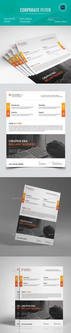 Corporate Flyer Template PSD #design Download: http://graphicriver.net/item/corporate-flyer/13345657?ref=ksioks