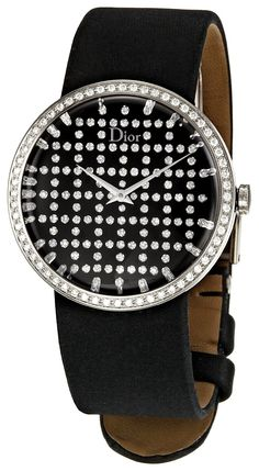 Diamond Watches Collection : Christian Dior - Watches Topia - Watches: Best Lists, Trends & the Latest Styles Stylish Watches, Luxury Watches, Watches For Men, Ladies Watches, Fine Watches, Beautiful Watches, Watch Sale, Fashion Watches, Black Silver