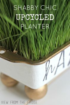 Upcycle a bread loaf pan into a fun and unique planter! Tutorial via View From The Fridge