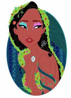 Pocahontas {Hamadryad} New Nymph Series. Princess Pocahontas, Disney Pocahontas, Disney Girls, Disney Princesses, Disney Fan Art, Disney Pixar, Disney Characters, Best Heroine, Disney Addict