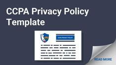 Don't write or update your CCPA-compliant Privacy Policy without checkout out or guidance and tips here. We'll help you make sure you hit all the required points and include all the necessary clauses. Privacy Policy, Templates, Writing, Reading, Tips, How To Make, Models, Word Reading, Template