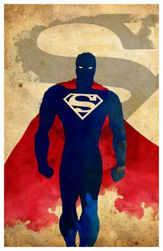 Minimalist Superhero Poster Superman by MINIMALISTPRINTS on Etsy